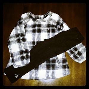 24m Baby Girl Calvin Klein Outfit